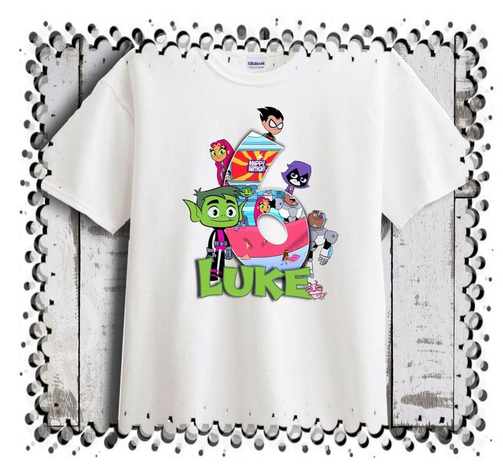 Teen Titans Go Birthday T-Shirt Party Favor Beast Boy Personalized