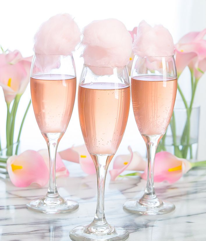 Cotton Candy Champagne Cocktails Recipe Thirst