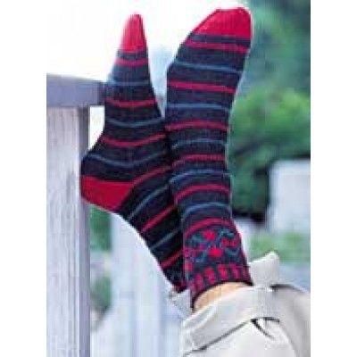 Intermediate Women's Socks Knit Pattern | Argyle socks ...