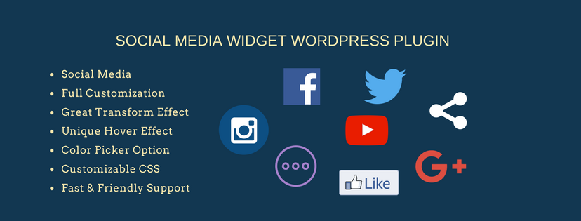 Display your social icons using Social Media Widget
