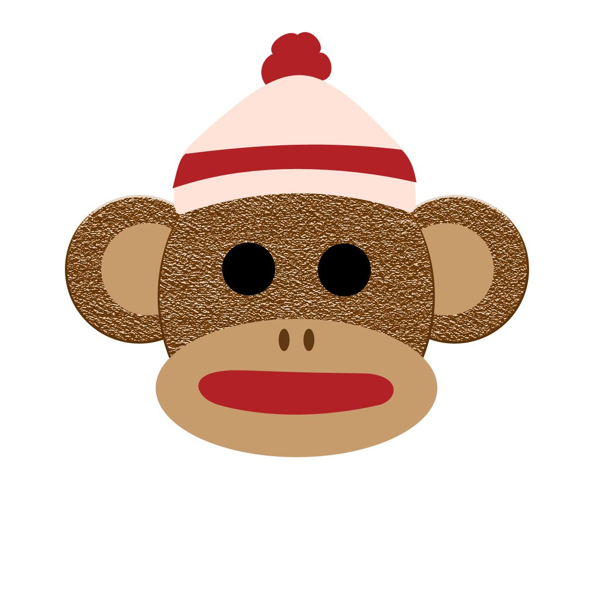 sock monkey   Applique ideas   Pinterest