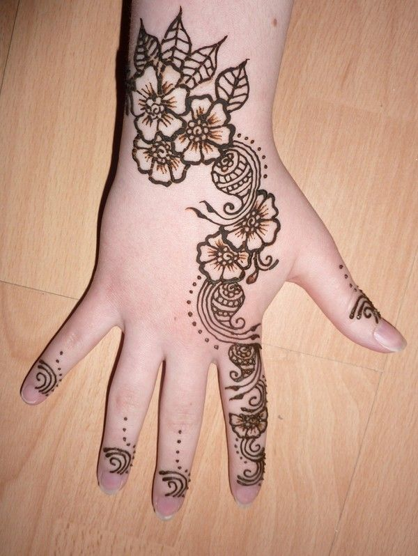 Mehndi Patterns Kids : Easy mehndi patterns for children fashion