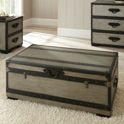 Steve Silver Rowan Rectangle Weathered Gray Trunk Coffee Table Tables At Hayneedle