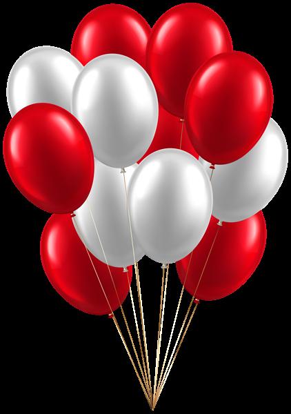 Balloons White Red Clip Art Image Happy Birthday Art Balloons Clip Art
