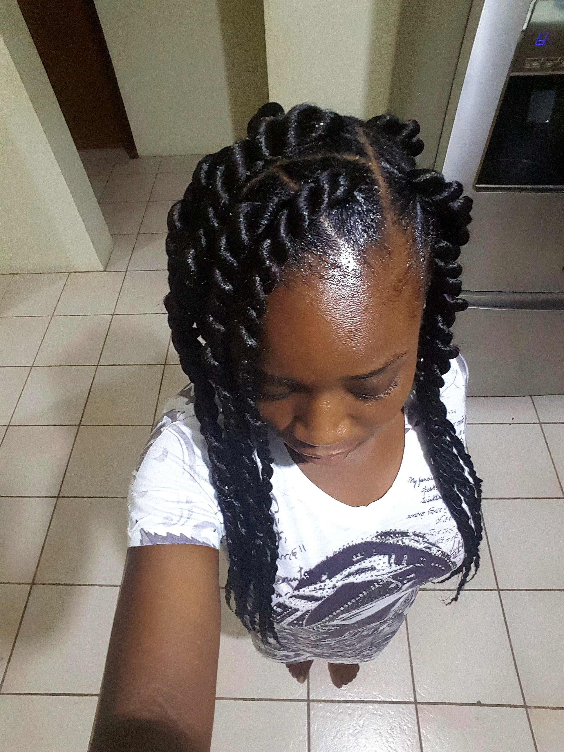 xpression braids with rubberbands