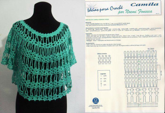 patron-blusa-crochet.jpg (700×481) | top crochet | Pinterest ...
