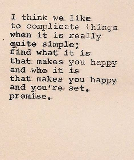 What do you really need to be happy?