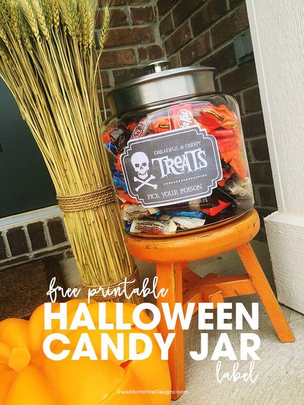 halloween candy jar labels