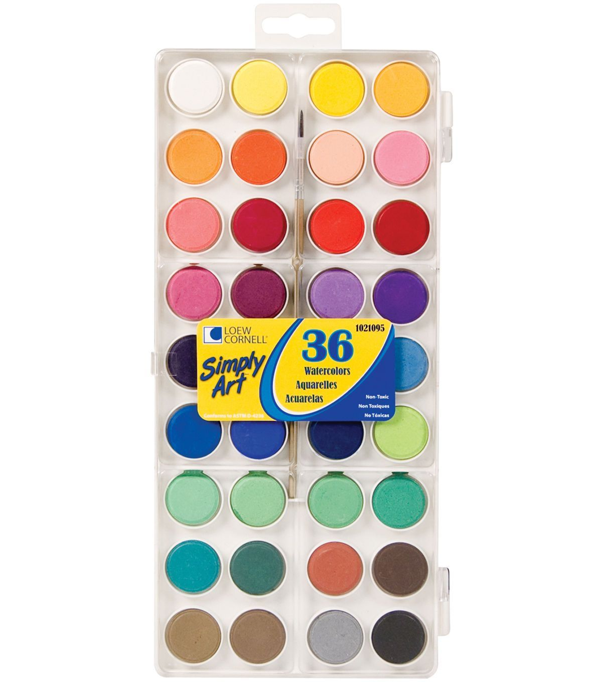 Simply Art Watercolor Paint Cakes 36pk Assorted Colors