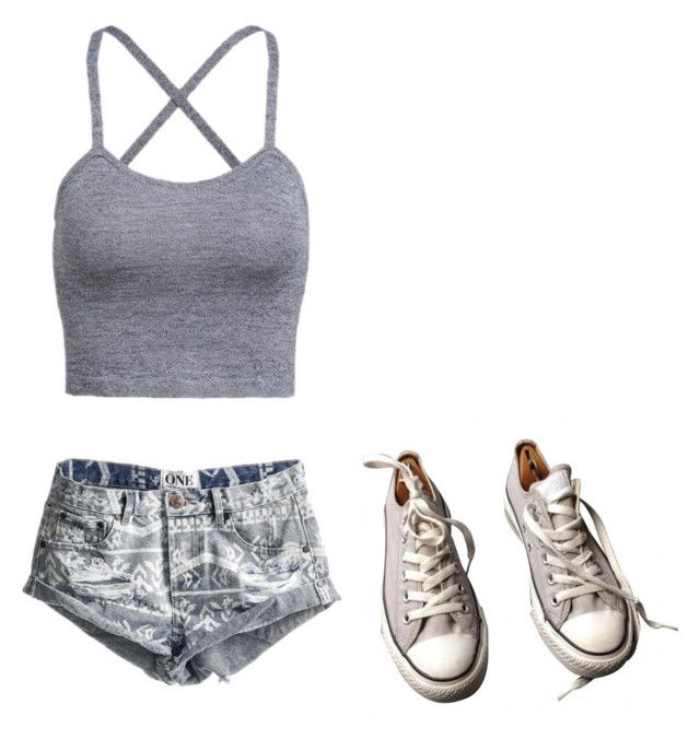 Untitled #18 by crownceciliacane on Polyvore featuring One Teaspoon and Converse