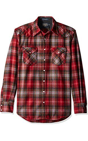 Pendleton Mens Long Sleeve Button Front Classic-fit Canyon Shirt