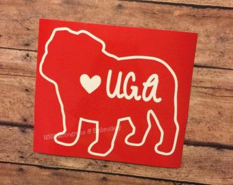 University Of Georgia Uga Bulldog Decal Georgia Pinterest