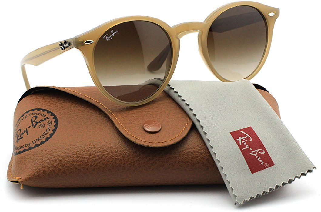 a46cb744099 Ray-Ban RB2180 616613 Round Turtledove Frame   Brown Gradient Lens 49mm   Clothing