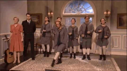 Kristen Wiig Returned To Saturday Night Live For The Best Sound Of Music Sketch Ever #celebrities #celebrities #memes