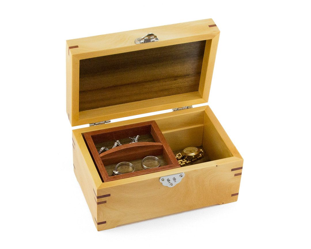 Small Wooden Jewellery Box Made From Tasmanian Huon Pine Etsy Wooden Jewelry Boxes Small Jewelry Box Jewellery Box Making