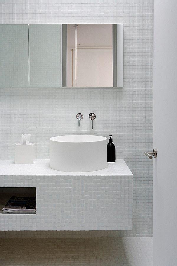 Gefliester Waschtisch simple bathrooms badezimmer bad mosaik und bäder