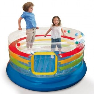 Saltatore trasparente Jump O Lene Ring Bounce | INTEX | Giocattolo EurekaKids