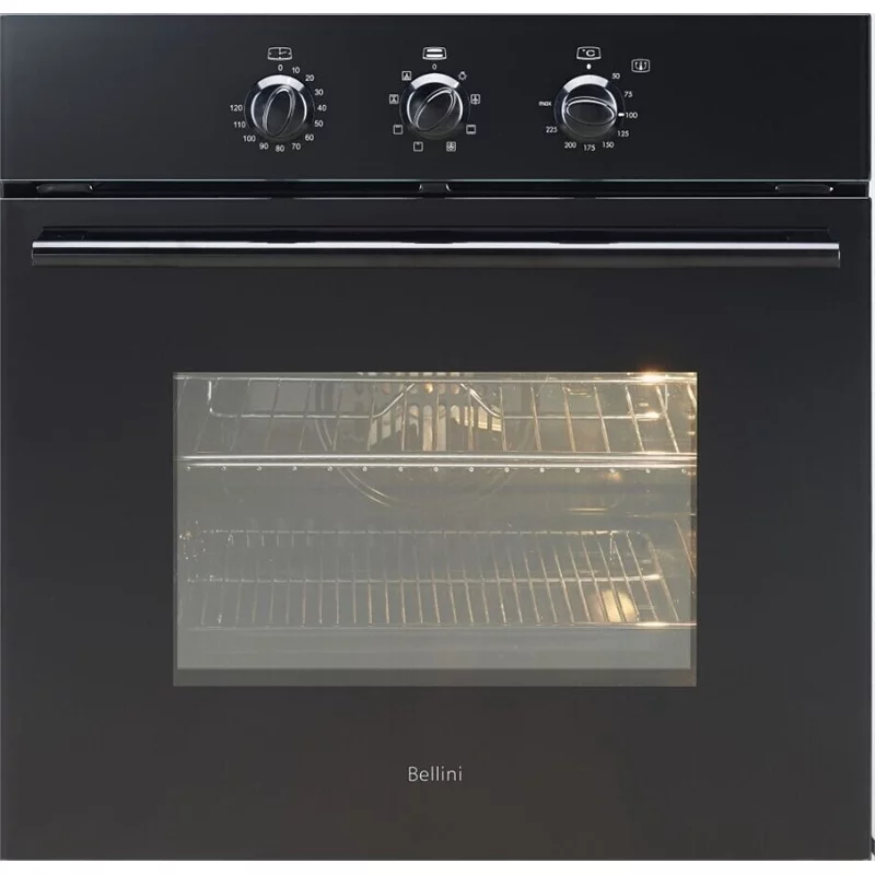 Bellini 60cm 60l Black 8 Function Built In Oven In 2020 Built In Ovens Bellini Building