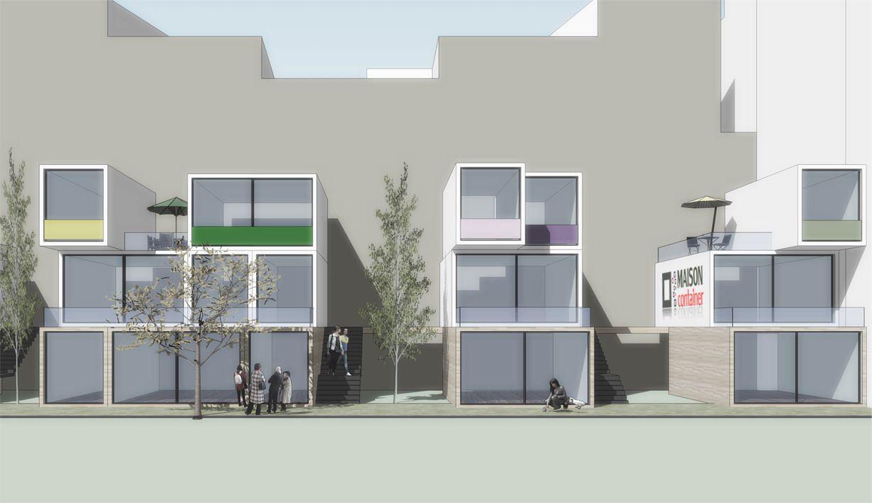 Modular House modular housinggeorgios kontaxakis, via behance | facade