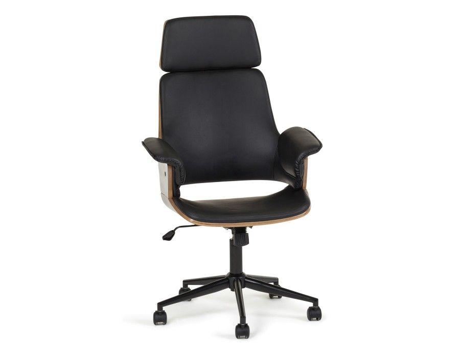 Chaise de bureau noir adena alex salon pinterest fauteuil