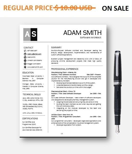 Teacher Resume Template, AddOn, Cover Letter, Reference Letter, MS - resume reference format