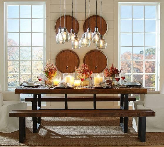 Griffin Dining Bench | Pottery Barn | Decoracion | Pinterest ...