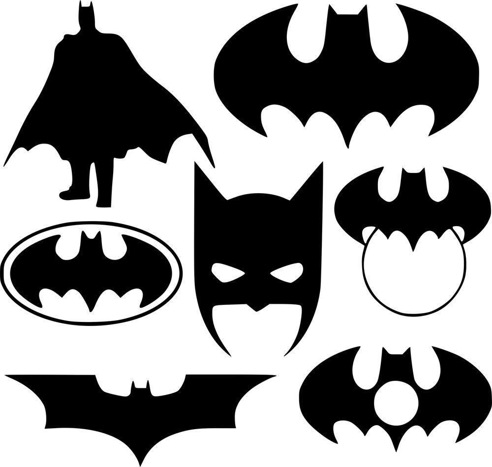 Batman pack Wall Art Autocollant Vinyle Autocollant Pochoir Mural Adhésif Home Decor Logo