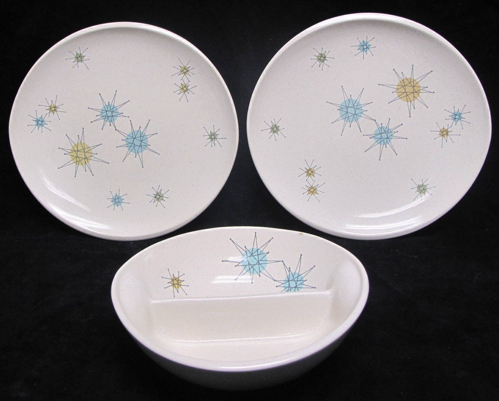Franciscan China Starburst Set of 2 Oval Dinner Plates and Divided Serving Bowl | eBay & Franciscan China Starburst Set of 2 Oval Dinner Plates and Divided ...