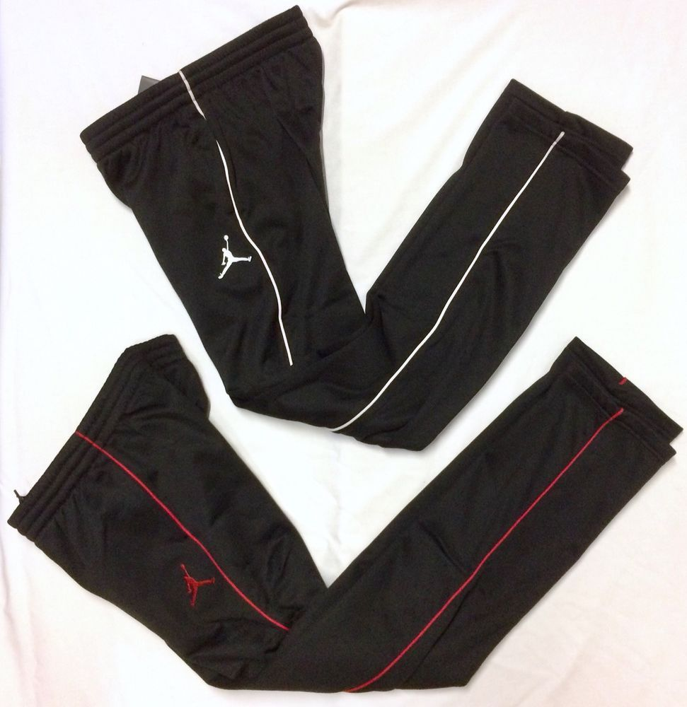 88c6363405d NEW Boys Nike Air Jordan Therma Fit Pants Size Large L Athletic Black Red  White #