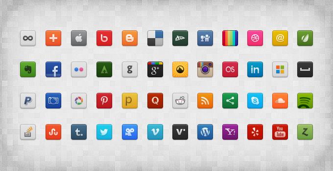 Social Media Icon Set Social media icons, Web design
