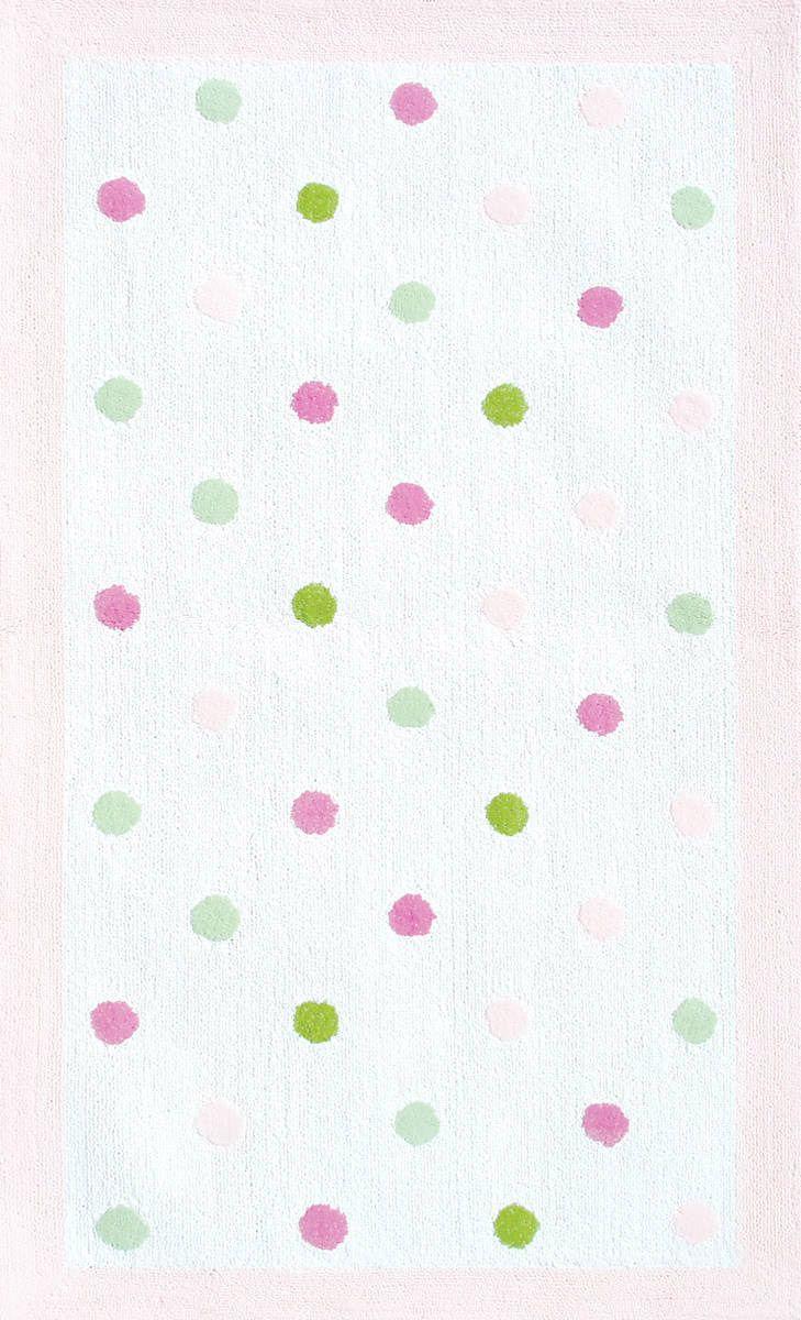modernrugscom pink dots modern kids rug  cool kids club  - modernrugscom pink dots modern kids rug