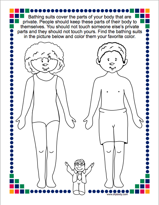 Free Printable Good Touch Bad Touch Coloring Book Good Touch Bad ...