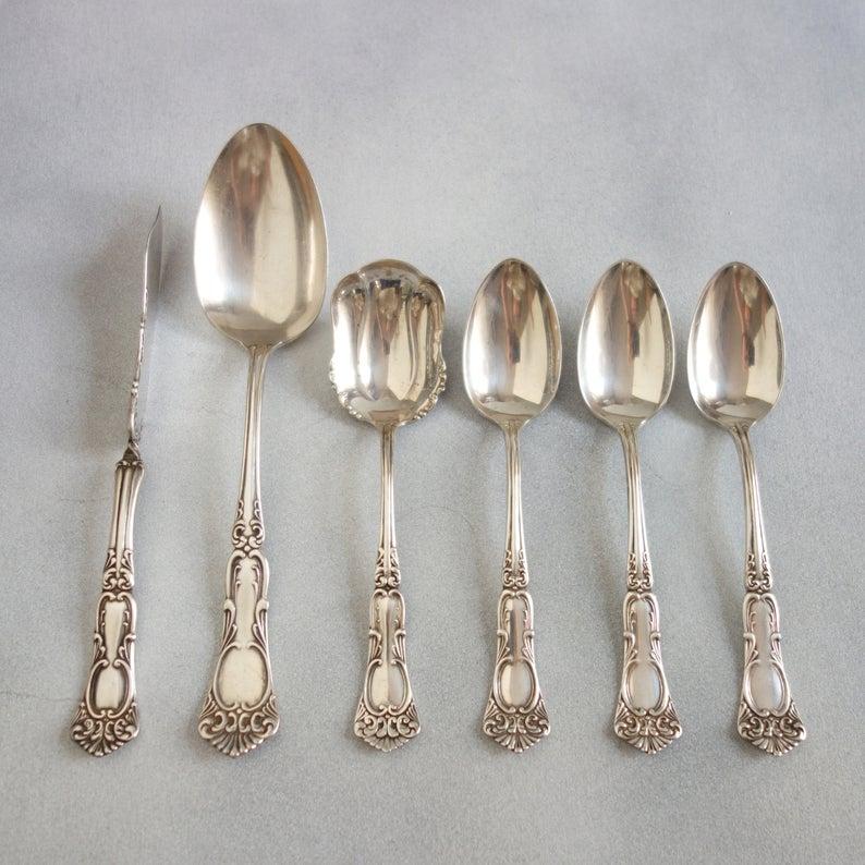 Rogers Oneida Silverplate Vintage silverplate cup spoon fork Wm A