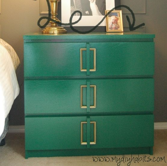 ikea malm art deco hack behr precious emerald maria i originally wanted to do this as end. Black Bedroom Furniture Sets. Home Design Ideas