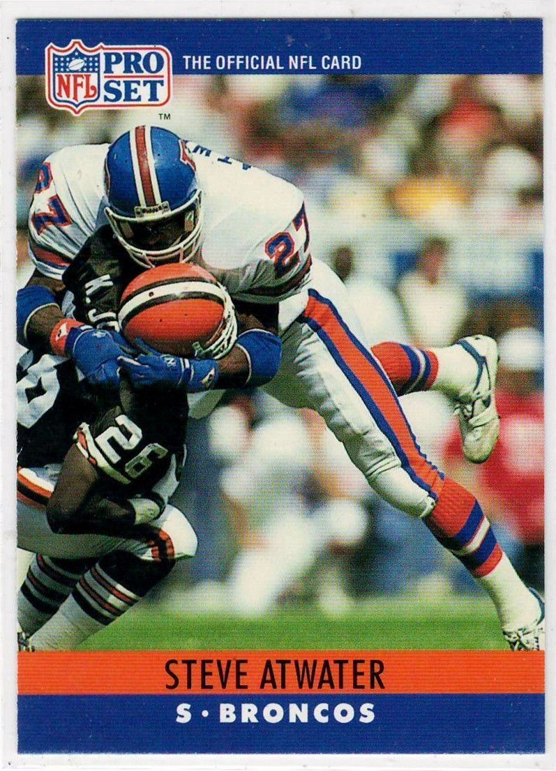 1990 Nfl Pro Set Steve Atwater 86 Football Trading Cards Football Trading Cards Nfl Football Cards