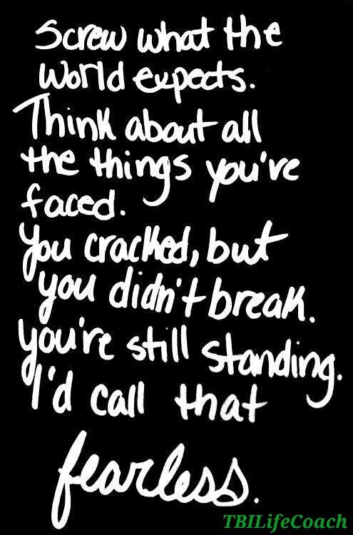 Fearless Brain Injury Warriors♡ TBI Life Coach Pinterest Fascinating Concussion Quotes