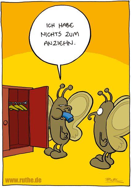 Motte Motten Kleiderschrank Leer Gefressen Nichts Zum Anziehen Ruthe Ruthe Comic Ruthe Cartoon