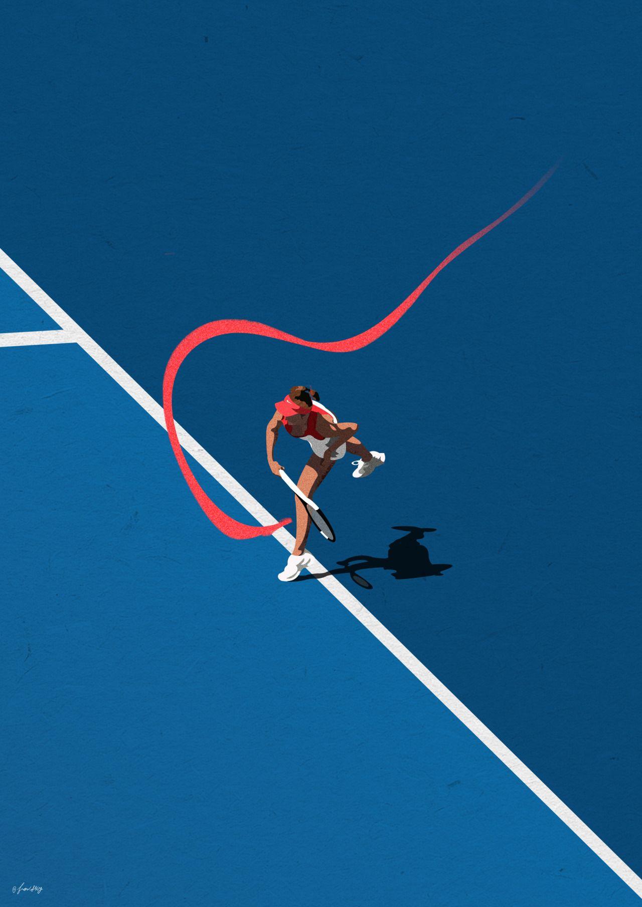 Tennis Girl (Rio 2016 Series) | 広告デザイン, ポートフォリオ 表紙, デザイン