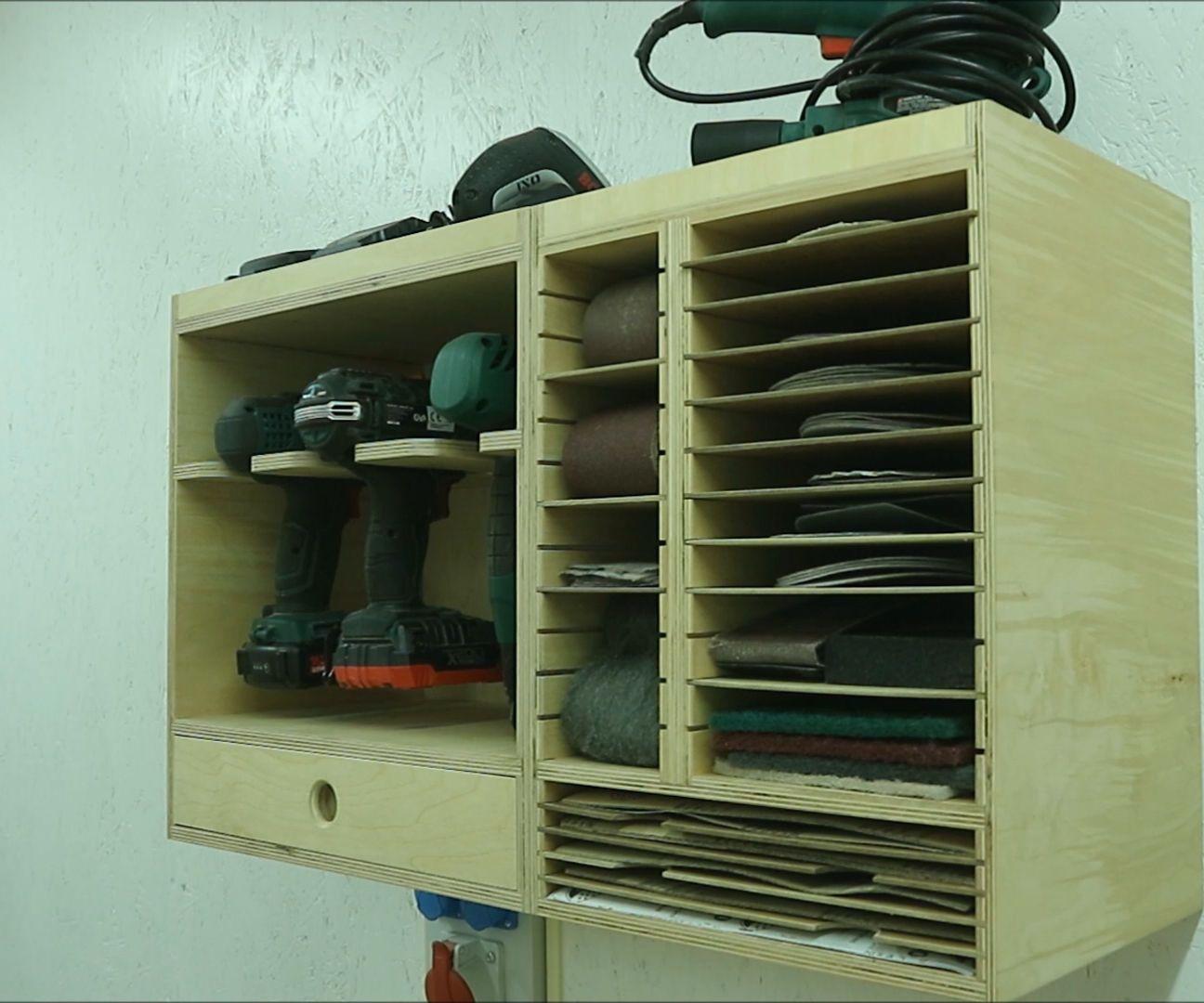 modular sandpaper organizer cabinet   workshop   modular