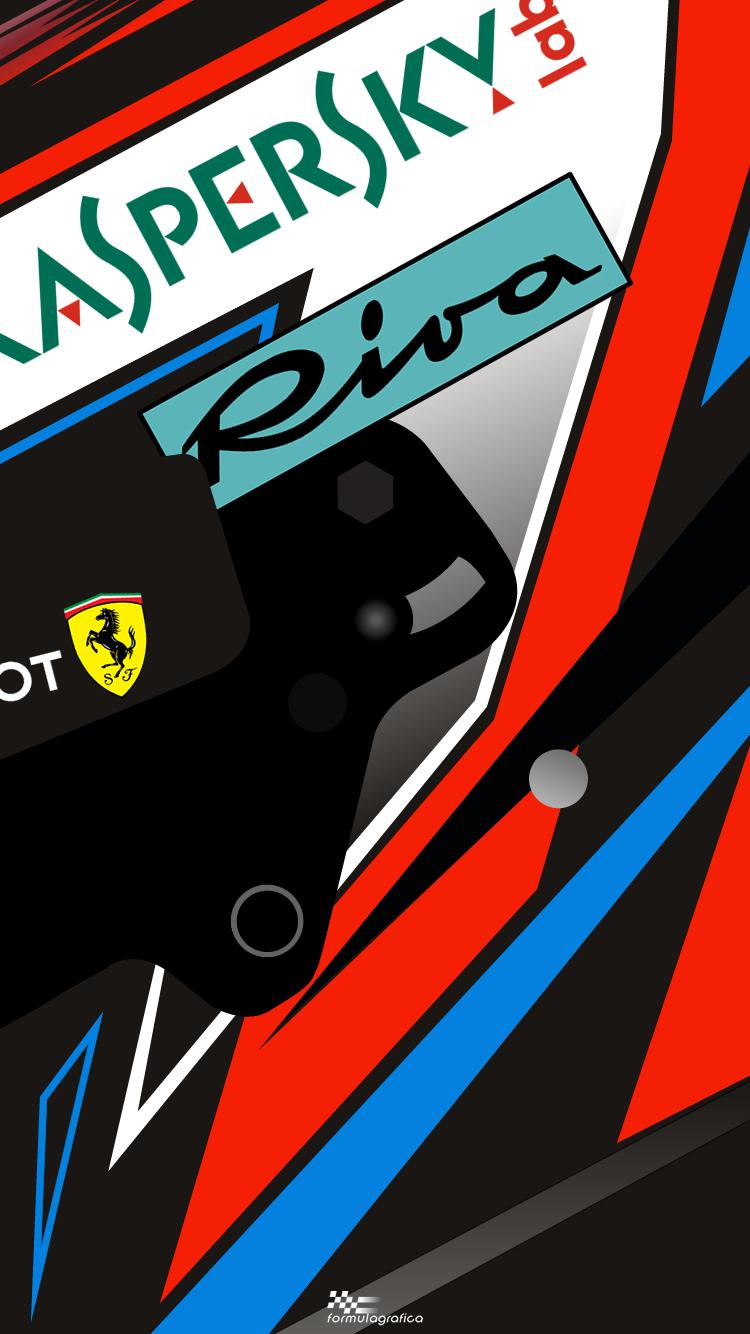 Iphone Wallpaper 2018 Formula 1 Season Helmets Kimi