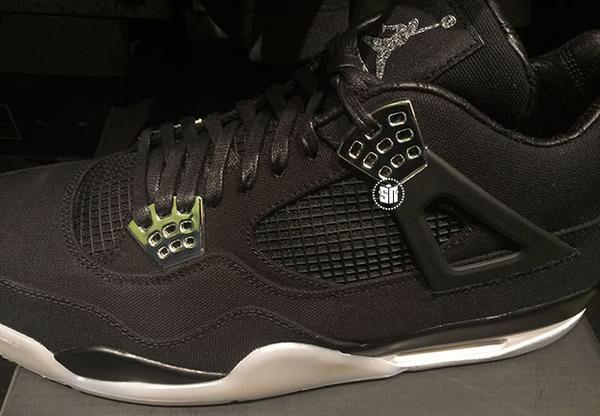Eminem x Air Jordan IV Retro  black/chrome/white colorway #AirJordan #Retro #Eminem #JordanBrand
