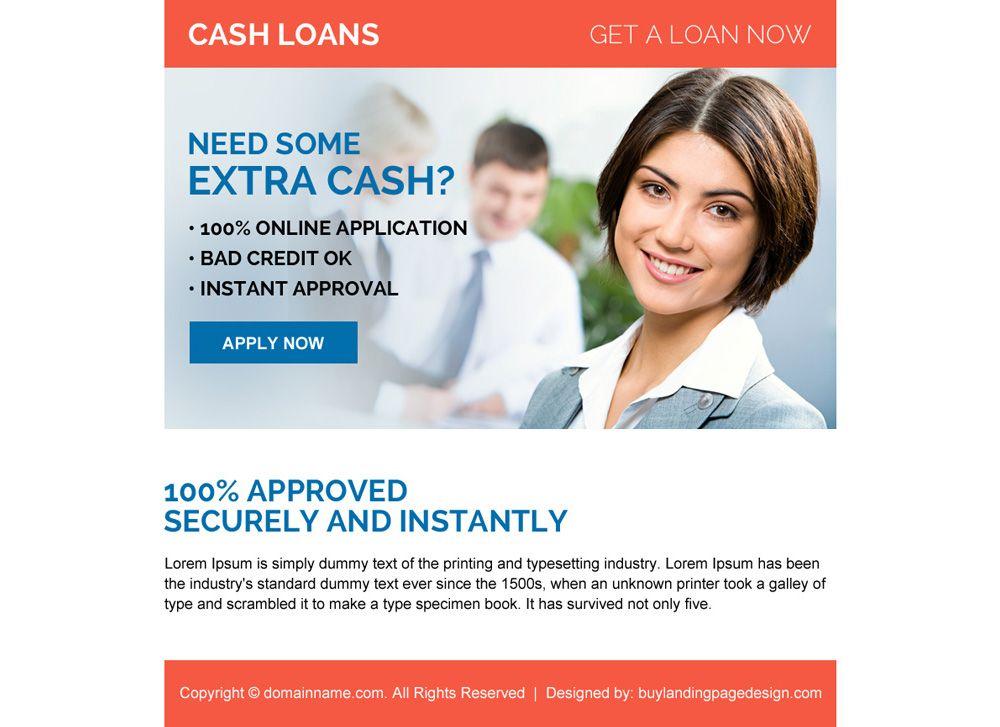 Instant Approval Online Cash Loan Ppv Landing Page Design Cash Loans Online Cash Landing Page Design