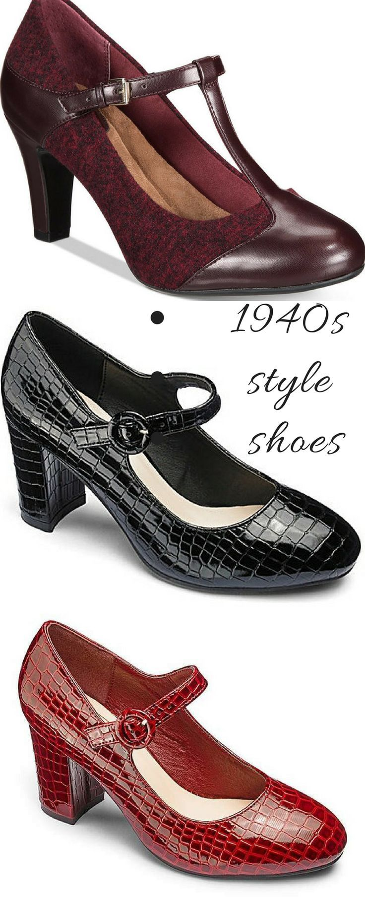1940s Style Shoes For Everyday Wear Reinactment Weekends Vintage Style And Retro Footwear Great Prices 1 Vintage Shoes Retro Fashion Vintage Trendy Fashion