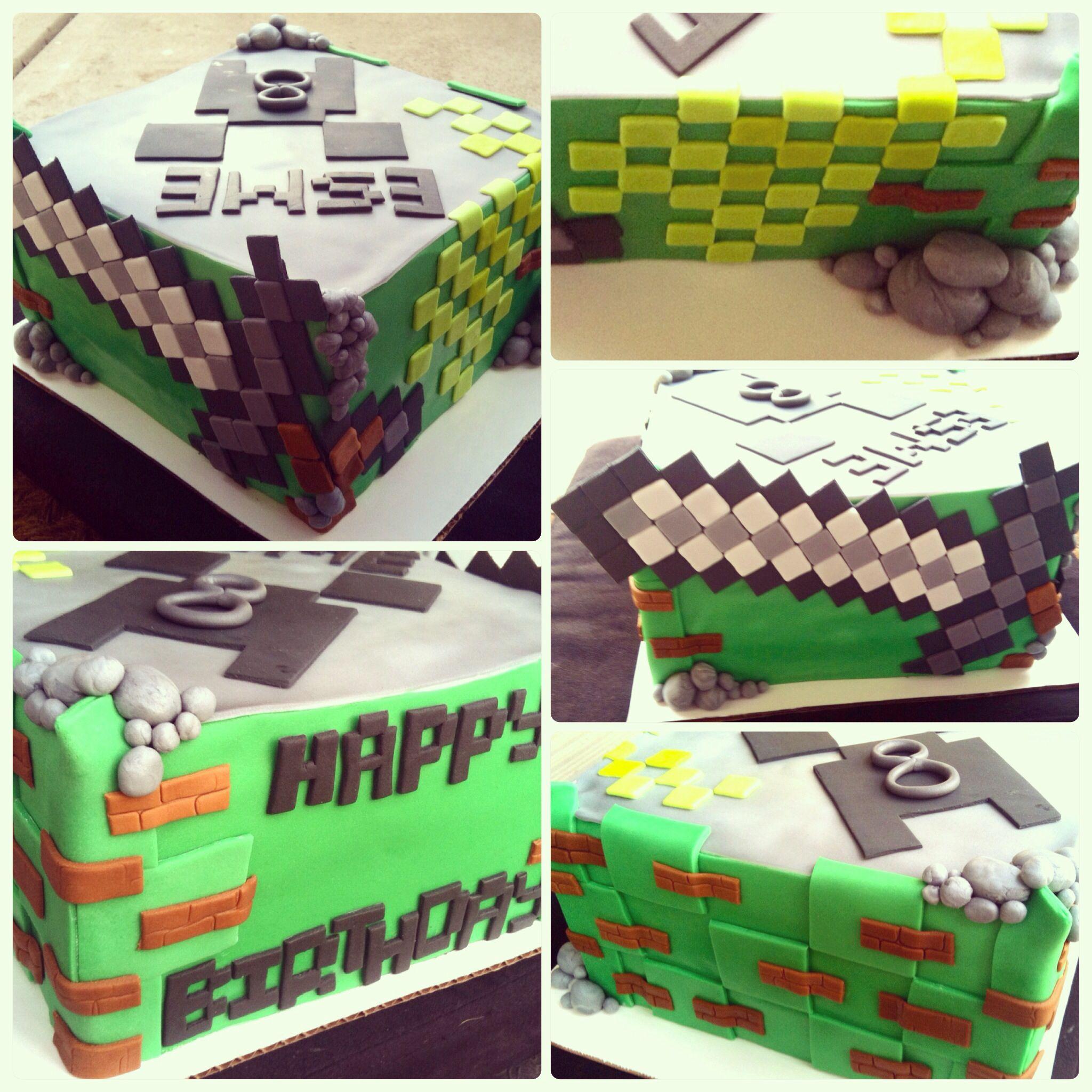 Minecraft Cake Minecraft Cake San Diego Themed Cake Birthday Cake