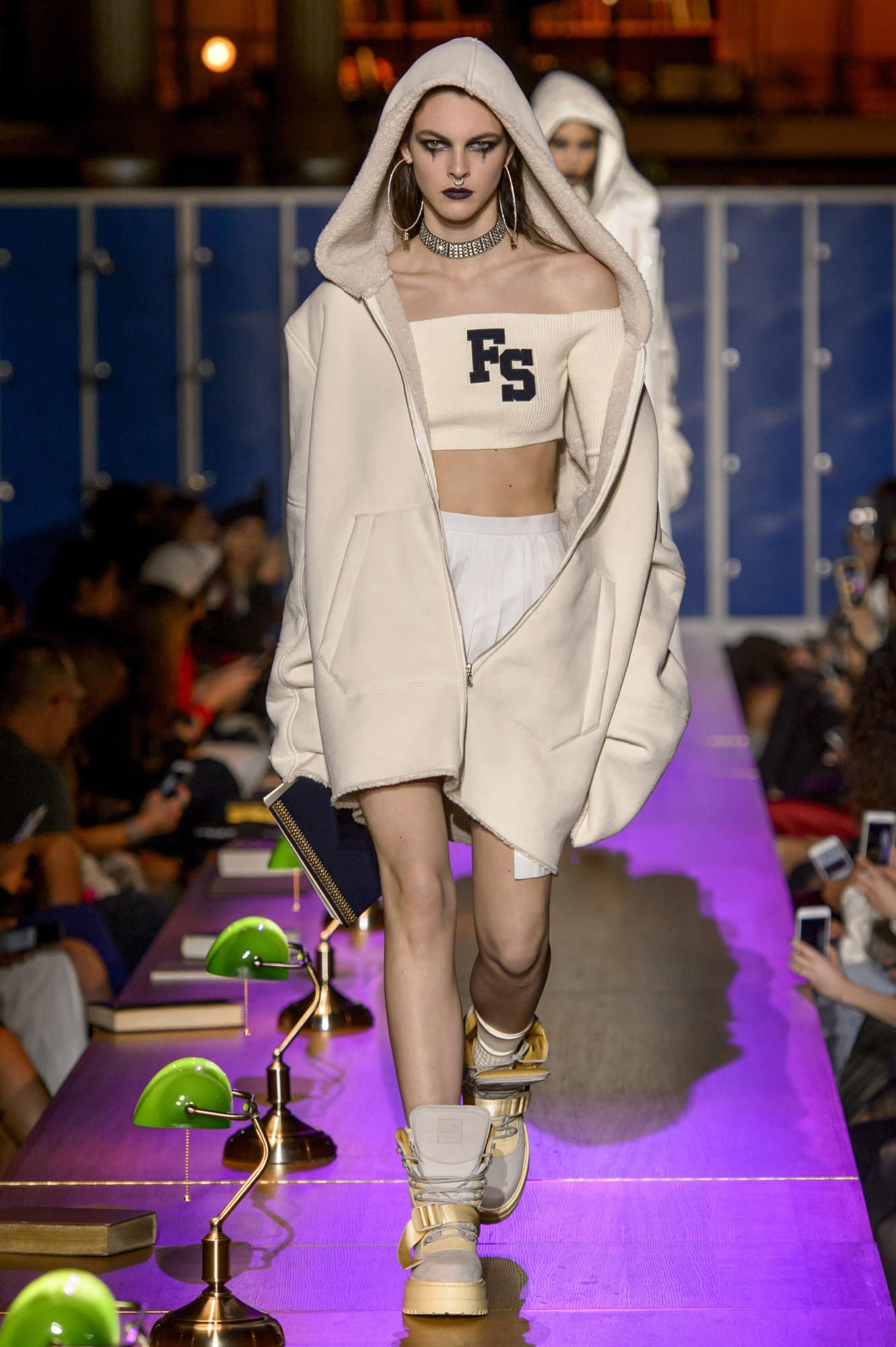 4b68d9222f57 A look from the Fenty Puma by Rihanna Fall 2017 collection. Photo  Imaxtree.