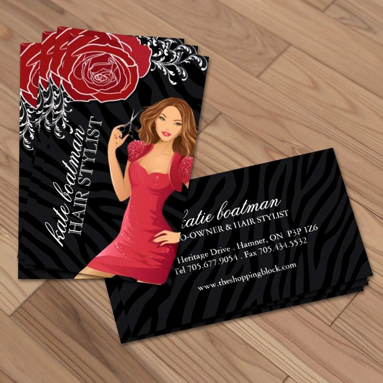 Designer hair stylist business cards | Business cards, Card ...