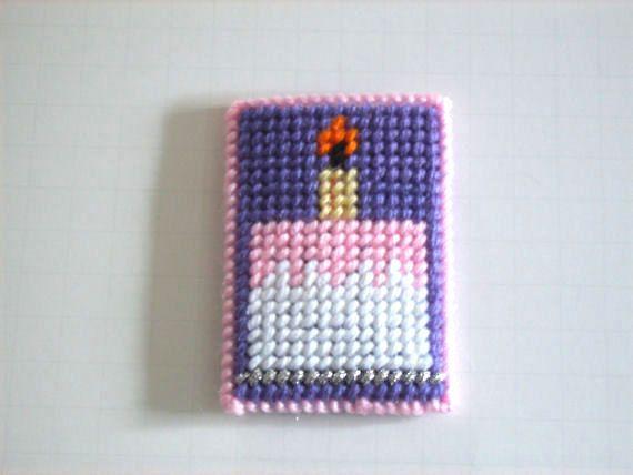 Easter Gift Birthday Cake Gift Card Holder Plastic Canvas