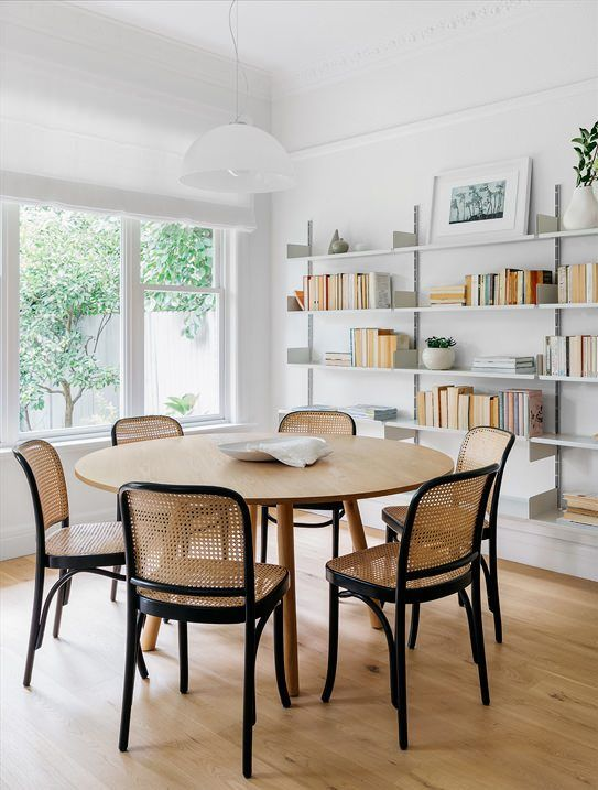Cane Back Chairs And Round Table Dining Room Inspiration