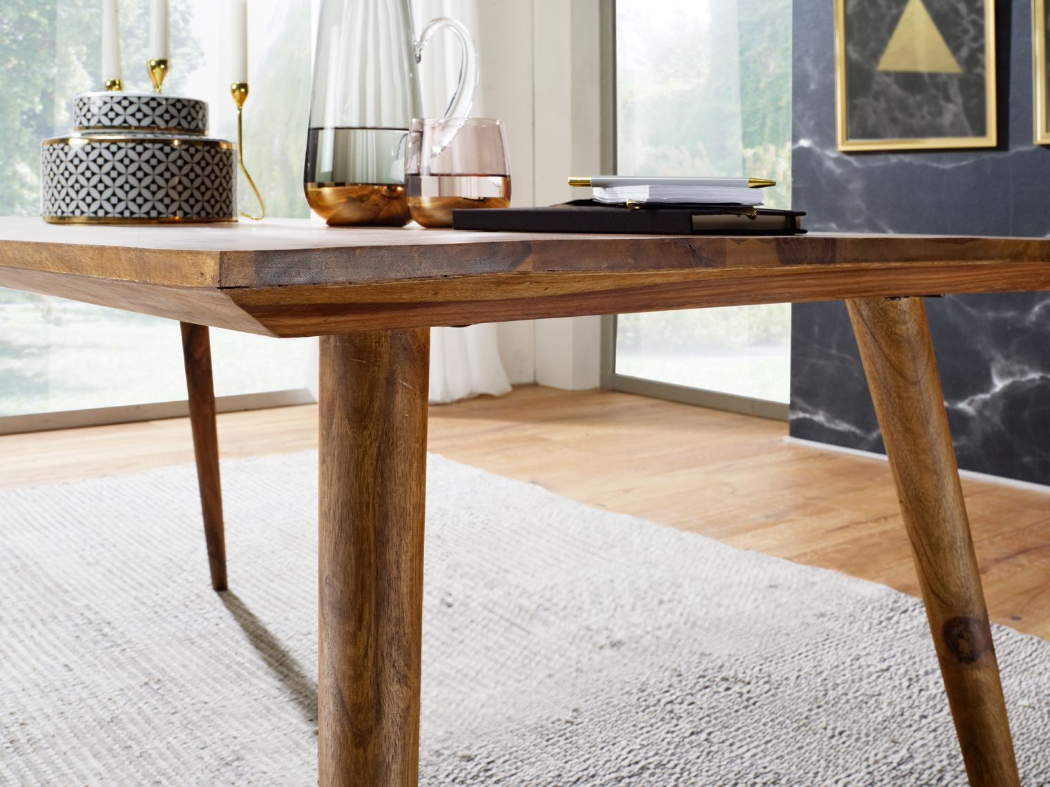 Wohnling Esstisch Repa 180x80 Cm WL1.963 Aus Sheesham Massivholz #Küche  #Wohnen #