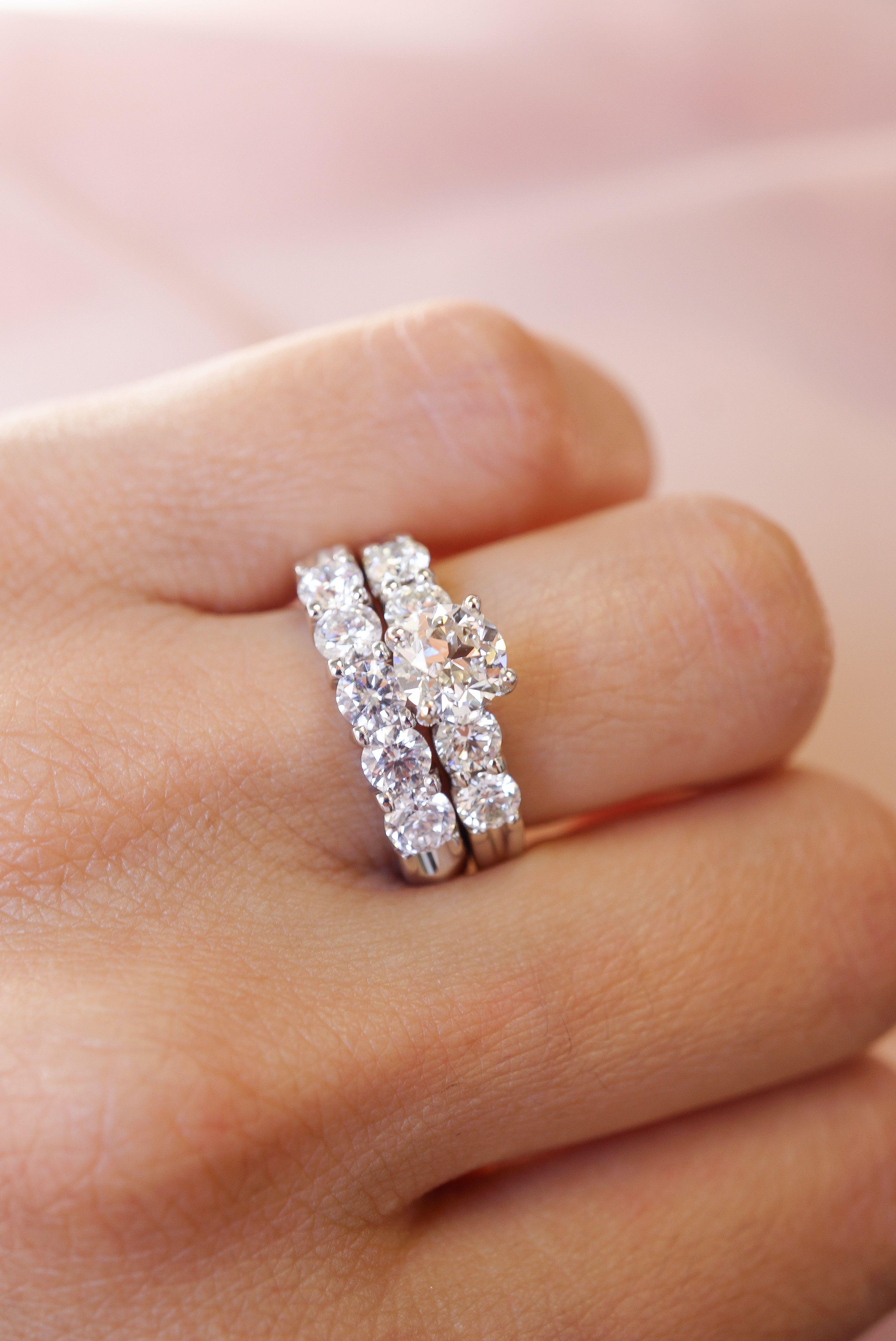 Diamond Wedding Set Round Diamond Engagement Rings Diamond Wedding Sets Round Diamonds Wedding Band